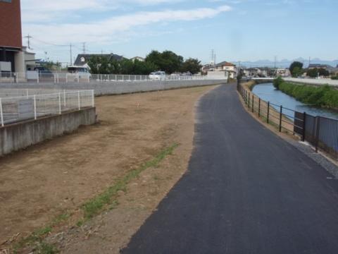 単独公共 河川維持補修堤防舗装工